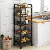 3/5 camadas carrinho carrinho cozinha Banheiro sala de estar com espaço para armazenamento organizador porta-louças Prateleiras de frutas e vegetais