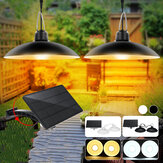 Double Head LED Solar Light IP65 Waterdichte Outdoor Garden Hanglamp voor Home Park Street Yard