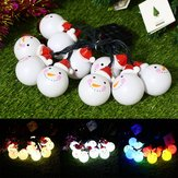 Solar Powered 3.5M 20LEDs Snowman Fairy String Light Outdoor Christmas Holiday Decoration