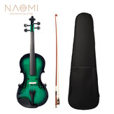 NAOMI Acoustic Violin 4/4 Violin Fiddle With Case+Bow Set