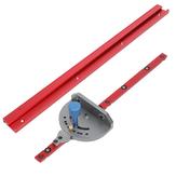 400-1200mm Hợp kim nhôm đỏ 45 Loại T-Track Chế biến gỗ T-slot Miter Track / Table Saw Router Miter đo