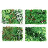 Artificial Plant Wall Topiary Hedges Panel Plastic Faux Shrubs Fence Mat