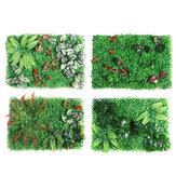 Tapis artificiel de clôture de faux arbustes de panneau de haies topiaires de mur de plante artificielle