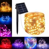 10M 100LED op zonne-energie 2 modi Fairy String Light Party Christmas Lamp Outdoor Garden Christmas Tree Decorations Lights