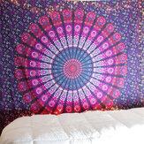 Mandala indien tapisserie tenture murale plage de sable jeter tapis couverture Camping tente voyage matelas bohème couchage tapisserie