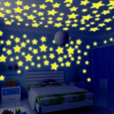 Honana DX-010 100 PCS 3 CM Fluorescent Cahaya Bintang Wall Sticker Decor Sticker