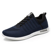 Men Sports Knitted Fabric Breathable Casual Running Sneakers