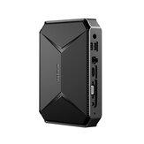 CHUWI Herobox Pro Intel Jasper Lake N4500 8G DDR4 RAM 256G SSD Mini PC 1.1GHz to 2.8GHz 4K TF Card Slot SATA Upgrade 2.4G/5G WiFi BT4.0 HD2.0 Type C