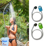IPRee® Portable USB Shower Pompa Air Nozzle Isi Ulang Genggam Shower Faucet Camp Perjalanan Luar Kit