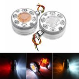 24V 24LED Chrome Red White Amber Side Marker Lights