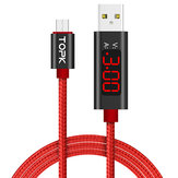 TOPK D-Line1 2.4A QC3.0 Voltage Current Display Micro USB Fast Charging Data Cable 1M For Phone Tablet