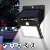 LED luz de energia solar PIR movimento Sensor jardim quintal lâmpada de parede de segurança ao ar livre