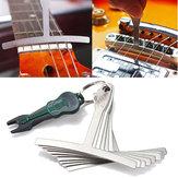 9Pcs Guitar Bass Under String Radius Gauge Setup para Luthier Stainless Steel Tools