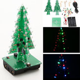 3Pcs Geekcreit® DIY Christmas Tree LED Kit de aprendizado eletrônico Kit Flash 3D