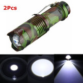 2st Camouflage MECO Q5 500LM Multicolor Zoomable Mini LED zaklamp 14500 / AA