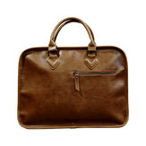 Mænd Business Cowhide Vintage Laptop Solid fritid Briefcase