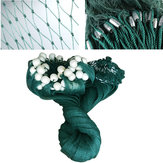 2x10M/3x20M Fishing Drag Net Handmade Beach Seine Monofilament Fish Cast Mesh Sinker Gill Trap