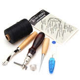 7Pcs Leather Craft Hand Stitching Sewing Tool Kit Thread