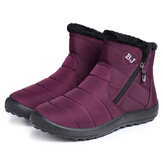 Dames Casual Keep Warm Rits Enkel Snow Boots