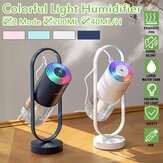 3,5 W 200ML Ultrasonic Electric Air Difusor Umidificador de Aroma USB Rotatable LED Night Light