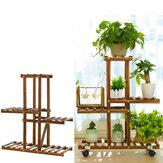4 camadas de madeira Planta suporte no / jardim ao ar livre Plantaer prateleira de suporte de vaso de flores
