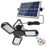 IPRee® 800LM 60 LED Solar Light 3 Lamp Head Timer Waterproof Folding Outdoor Garden Work Lamp with Remote Control Solar Panels