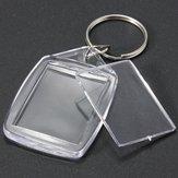 25x35 millimetri di plastica acrilica trasparente bianco della foto inserto portachiavi
