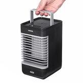 110V Mini USB Air Cooler ABS Ventilateur portable avec indicateur Suppot Batterie Power Summer Cooling Fan Air Conditioner Fan