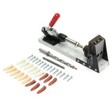 Pockethole Jig Woodworking Kit Portable Hole Jig Joinery System w/Drilling Bit