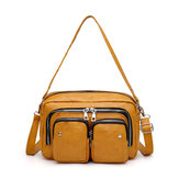Women Multifunction Faux Leather Crossbody Bag Shoulder Bag Handbag