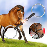 105/115/125mm Stainless Steel Horse Mouth Ring Jointed Bit Equestrian Snaffle