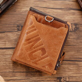 Men Genuine Leather RFID Blocking Card Holder Bifold Wallet Purse Zipper Wallet