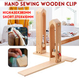 Leather Craft Sew Wooden Clip Stitching Hand Adjustable Clamp DIY Essential Tool