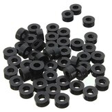 Suleve 200Pcs Flat Nylon Washer Black Round Spacer Washer Standoff Fastener Hardware 7*4*L