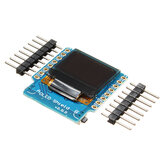 Geekcreit® OLED Shield V2.0.0 Płytka rozszerzająca do D1 Mini 0,66 cala 64x48 IIC I2C Two Button