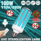 100W UV Germicida lampada E27 UVC LED Lampadina Lampada di disinfezione con temporizzazione remoto Controllo AC110V / 220V