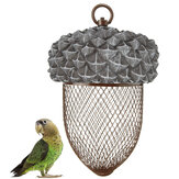 Iron Bird Feeder Outdoor Hanging Mesh Feeding Nut-shaped Park Garden Pet Bird Supplies