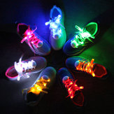 1 para LED Bestsellery 7TH generacji Flash Luminous modne nylonowe sznurówki do jazdy na łyżworolkach Running Disco Light Up Glow Nylon Strap