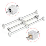 Machifit 13pcs 400mm CNC Parts Optical Axis Guide Bearing Housings Aluminum Rail Shaft Support Screws Set