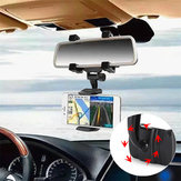 Bakeey™ ALT-5 360° Rotation Rear View Mirror Mount Phone Holder for Phone 3.5-5.5 inches