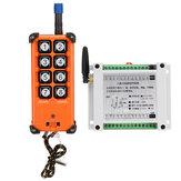 8CH Channel Wireless Controle Remoto Switch Controlador de Recepção Sem Fio Industrial DC12-36V AC220V