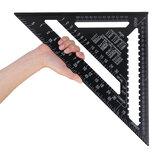 Raitool AR01 43X30X30cm Regla de Triángulo de Aleación de Aluminio Métrica Negra Regla Triángulo