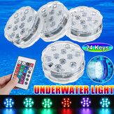 4PCS Multicolor Infrared LED Submersible Swimming Pool Light Remote Control Pond Party Underwater Lamp