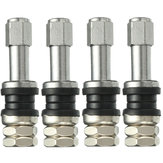 4X Universal TR43E Metal Clamp-in Tubeless Tire Tire Wheel Schrader Valve
