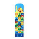 Calendário do advento da mesquita do Ramadã para crianças presente 30 bolsos Eid Mubarak Casa Decoração DIY