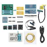 EZP2019 Podpora vysokorychlostního USB SPI programátoru 24 25 93 EEPROM 25 Flash BIOS Chip + 12 adaptérů