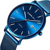 Crrju2161estilodenegócioshomens relógio de quartzo
