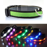Ao ar livre Nylon LED Pet Cachorro Collar Night Safety Anti-lost Flashing Glow Collars Supplies