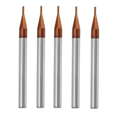 Drillpro 5pcs 1mm 4 Flutes Tungsten Carbide End Mill Cutter HRC55 AlTiN Coating End Mill Cutter