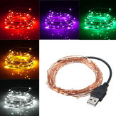 5M 50 LED USB Drut miedziany LED String Fairy Light na Boże Narodzenie Xmas Party Decor